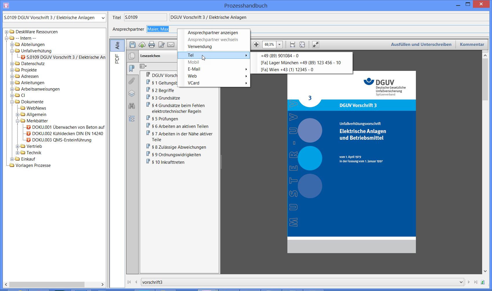 Prozesshandbuch - Adressmanagement - DeskWare Products GmbH
